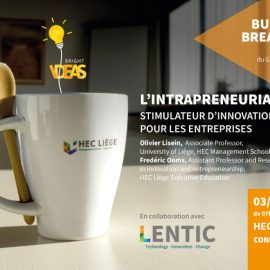 3 avril 2019 – Business Breakfast : L'intrapreneuriat, stimulateur d'innovation pour les entreprises