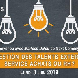3 juin 2019 – Gestion des talents externes, service Achats ou RH?