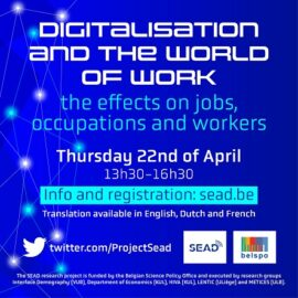 Webinaire 22 avril 2021: Digitalisation and the world of work